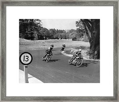 Road Racers Framed Print by David Savill