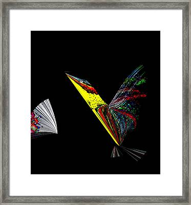 Road Runner With Fan Framed Print by Irma BACKELANT GALLERIES