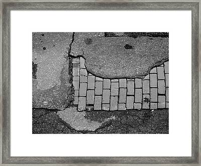 Road Textures Framed Print