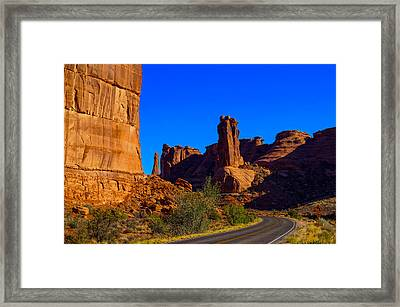 Road Through Arches National Park Utah Framed Print by Scott McGuire