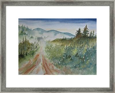 Road Through The Hills Framed Print by Ramona Kraemer-Dobson