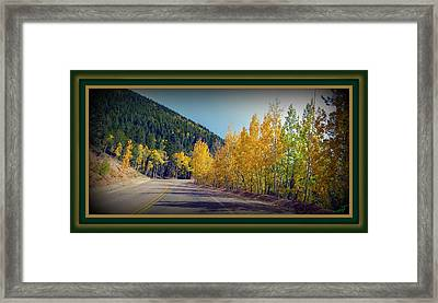 Road To Fall Framed Print by Michelle Frizzell-Thompson