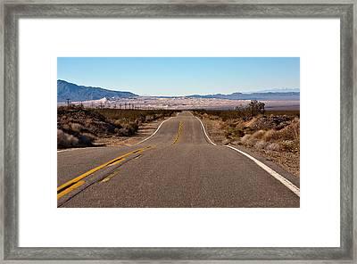 Road To Kelso Dunes Framed Print by Dennis Hofelich