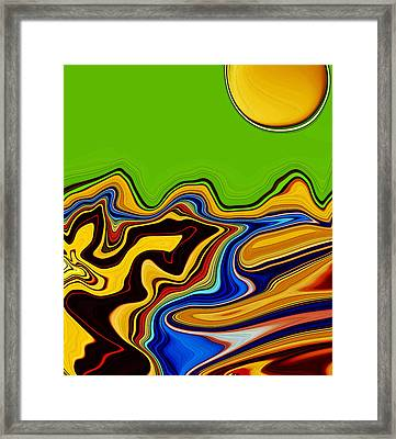 Road To Mars Framed Print by Molly McPherson