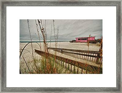 Road To Pink Pony Framed Print