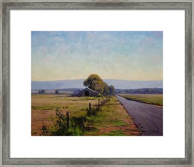 Road To Richmond Framed Print by Graham Gercken