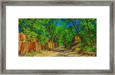 Road To Santa Fe Framed Print by Ken Stanback