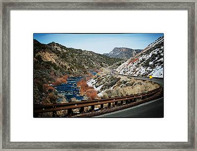 Road To Taos Village 1 Framed Print by Lisa  Spencer