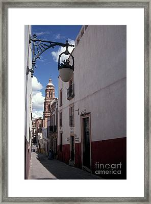 Framed Print featuring the photograph Road To The Cathedral Zacatecas Mexico by John  Mitchell