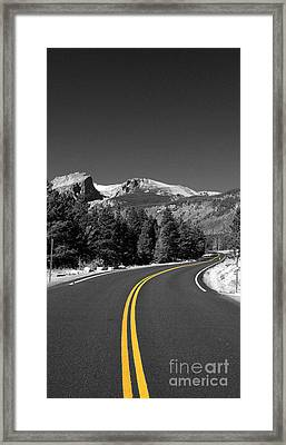Road To The Rockies Framed Print by Holger Ostwald