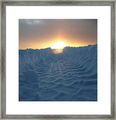 Road To The Sun Iv Framed Print by Wesley Hahn