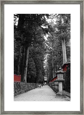 Road To The Temple Framed Print by Naxart Studio