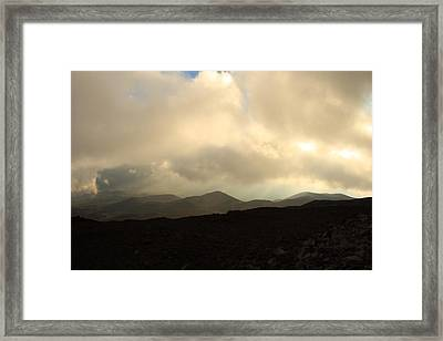 Framed Print featuring the photograph Road Up Mauna Kea by Scott Rackers