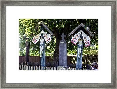 Roadside Crucifix Vii Framed Print