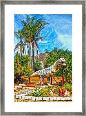 Roadside Raptor Framed Print by Gregory Dyer
