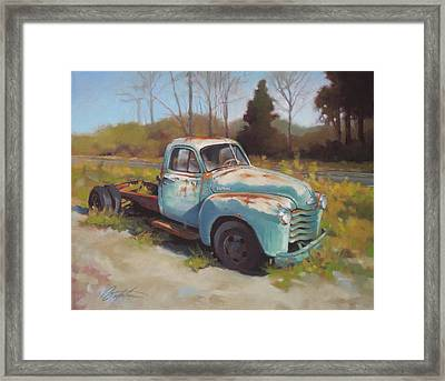 Roadside Relic Framed Print by Todd Baxter