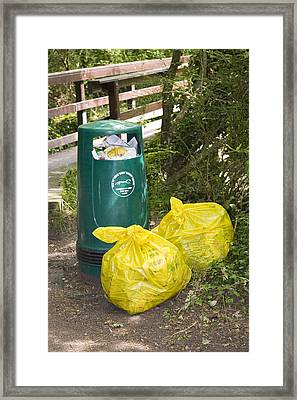 Roadside Rubbish Framed Print by Sheila Terry