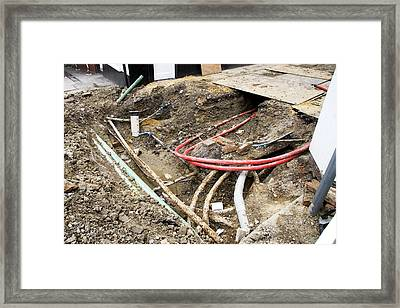 Roadworks Framed Print