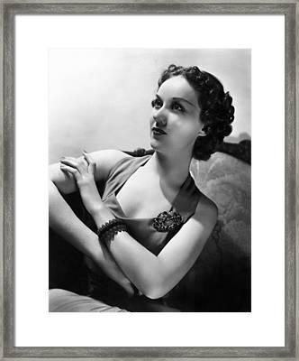 Roaming Lady, Fay Wray, 1936 Framed Print