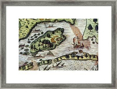 Roanoke Island, 1585 Framed Print