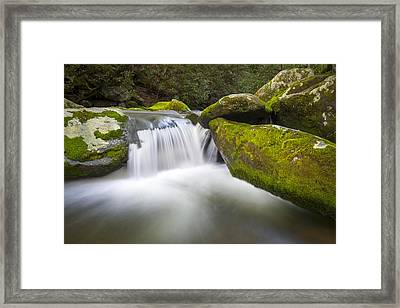 Roaring Fork Great Smoky Mountains National Park - The Simple Pleasures Framed Print by Dave Allen