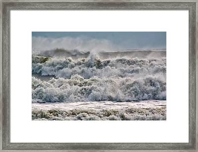 Roaring Sea Framed Print