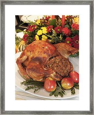 Roast Turkey Framed Print by Tetra Images