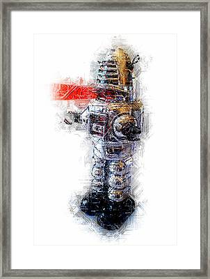Robbie The Robot Framed Print
