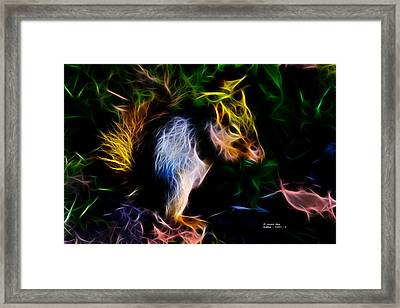Robbie The Squirrel - 7839 - Fractal Framed Print