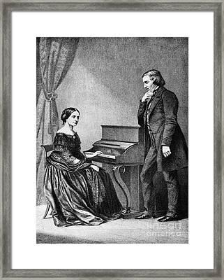 Robert And Clara Schumann, German Framed Print by Omikron