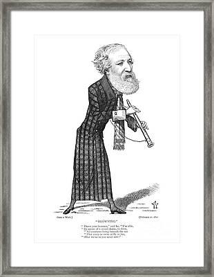 Robert Browning (1812-1889) Framed Print by Granger