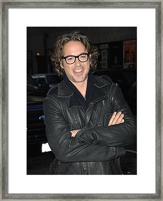 Robert  Downey Jr. At Talk Show Framed Print by Everett