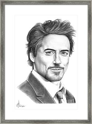 Robert Downey Jr. Framed Print by Murphy Elliott