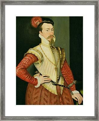 Robert Dudley - 1st Earl Of Leicester Framed Print by Steven van der Meulen