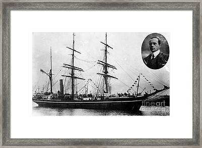 Robert Falcon Scott And His Exploration Framed Print
