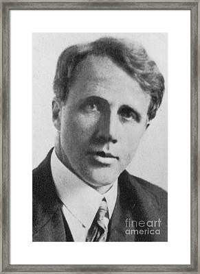 Robert Frost, American Poet, Circa 1910 Framed Print by Science Source