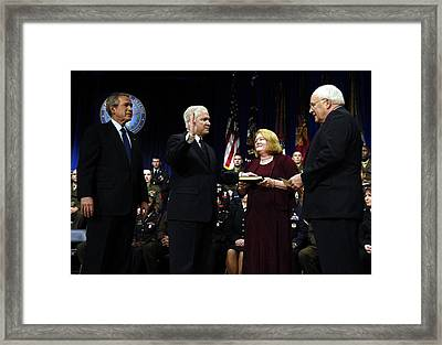 Robert Gates Is Sworn In As The 22nd Framed Print