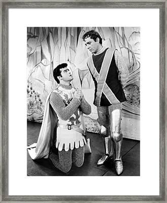 Robert Goulet And Richard Burton Framed Print
