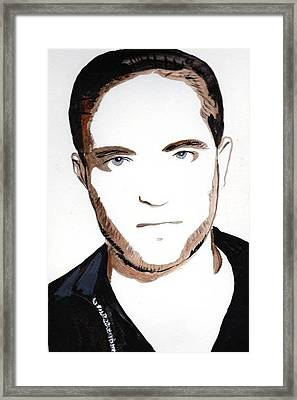 Framed Print featuring the painting Robert Pattinson 10 by Audrey Pollitt