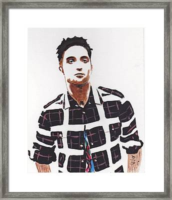 Framed Print featuring the painting Robert Pattinson 11a by Audrey Pollitt