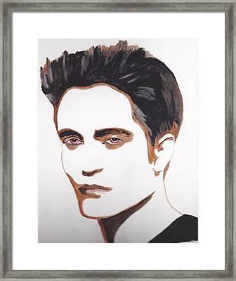 Framed Print featuring the painting Robert Pattinson 12 by Audrey Pollitt