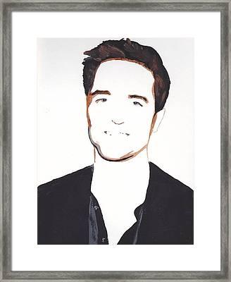 Framed Print featuring the painting Robert Pattinson 13 by Audrey Pollitt
