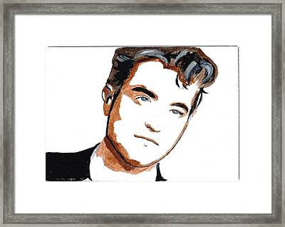 Robert Pattinson 22 Framed Print by Audrey Pollitt