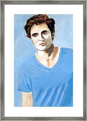 Framed Print featuring the painting Robert Pattinson 6 by Audrey Pollitt