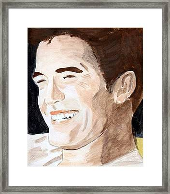 Framed Print featuring the painting Robert Pattinson 8 by Audrey Pollitt