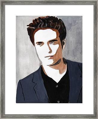 Framed Print featuring the painting Robert Pattinson 9 by Audrey Pollitt