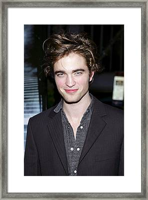 Robert Pattinson At Arrivals For Harry Framed Print