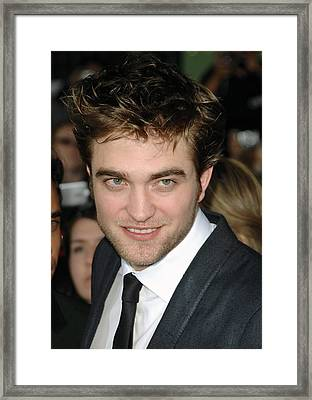 Robert Pattinson At Arrivals For The Framed Print