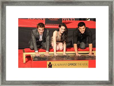 Robert Pattinson, Kristen Stewart Framed Print