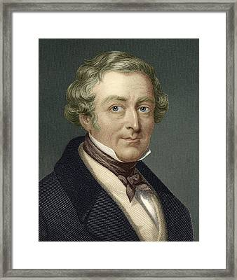 Robert Peel, British Prime Minister Framed Print by Sheila Terry